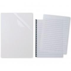 Confezione di copertine trasparenti in PVC per rilegatura video (100 pz)