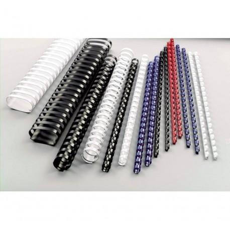 Confezione di spirali in plastica 21 anelli (100 pz)