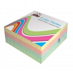 Cubo di Foglietti riposizionabili pastello In Linea