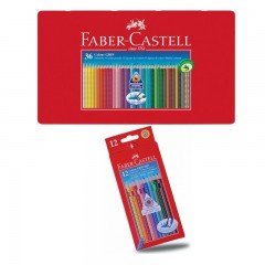 Confezione di Matite colorate acquerellabili Colour Grip FABER CASTELL