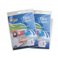 Etichette Autoadesive Bianche TICO (Confezione da 10 fogli)
