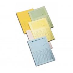 Cartellina in cartoncino con finestra Sintex BLASETTI colori assortiti (Confezione da 50)