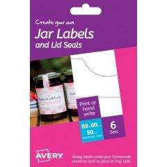Etichette glossy per barattoli con sigillo di qualità